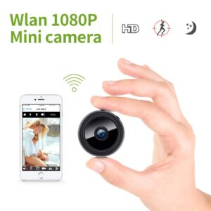 Mini Kamera, 1080P Full HD Wireless Überwachungskamera WiFi IP Kamera mit Bewegungmelder für iPhone/Android/iPad
