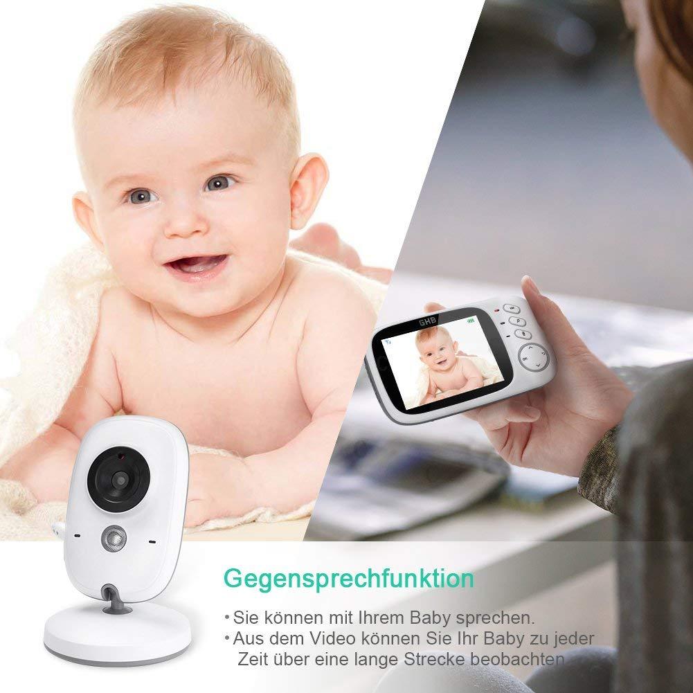 GHB Video Baby Monitor Mit Camera Bildschirm Nachtsichtkamera Babyphone Babyfon