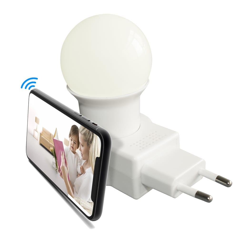 Nachtlicht Kinderzimmer/Flur/Badezimmer Steckdose Wlan Kamera - Handy Live  Überwachung